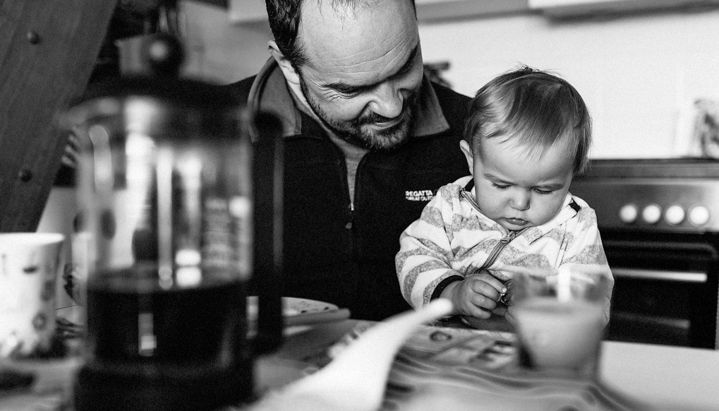 Vater und Sohn Familienfoto