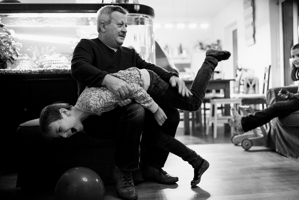 Opa und Enkel Familienfotografie